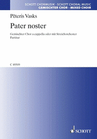 Pater noster Sheet Music by Peteris Vasks