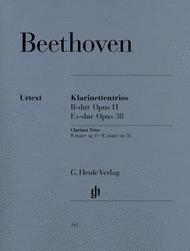 Clarinet Trios B flat major Op. 11 and E flat major Op. 38 for Piano