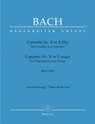 Concerto for Harpsichord and Strings No. 2 E major BWV 1053 Sheet Music by Johann Sebastian Bach
