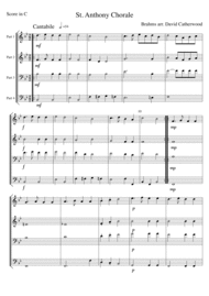St. Anthony Chorale by Brahms Sheet Music by Johannes Brahms
