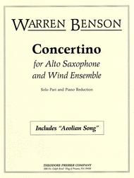 Concertino Sheet Music by Warren Benson