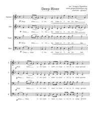 Deep River Sheet Music by Afro - American Spiritual