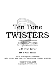 Ten Tone Twisters for SSA Choir & Piano Sheet Music by M Ryan Taylor