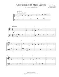 Crown Him with Many Crowns - 2-octave handbell choir Sheet Music by Matthew Bridges