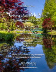 Georgia on My Mind (for Saxophone Quartet SATB or AATB) Sheet Music by Ray Charles
