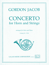 Concerto for Horn & Strings (or Band) Sheet Music by Gordon Jacob