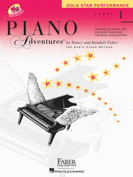 Piano Adventures Level 1 - Gold Star Performance with CD Sheet Music by Nancy Faber