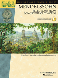 Mendelssohn - Selections from Songs Without Words Sheet Music by Felix Bartholdy Mendelssohn