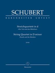 String Quartet D minor D 810 Death and the Maiden Sheet Music by Franz Schubert