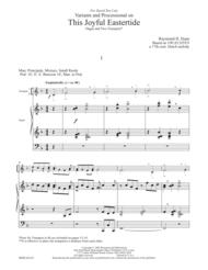 This Joyful Eastertide Sheet Music by Raymond H Haan