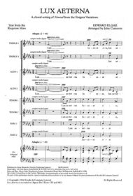 Lux Aeterna Sheet Music by Edward Elgar