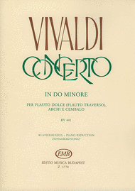 Recorder Concerto In C Minor RV 441 Sheet Music by Oliver Nagy