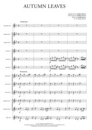 Autumn Leaves for Saxophone Ensemble Sheet Music by Joseph Kosma