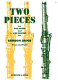 Two Pieces for Two Oboes and Cor Anglais Sheet Music by Gordon Jacob