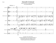Smooth Criminal for Steel Band Sheet Music by Michael Jackson