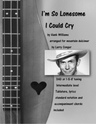 I'M So Lonesome I Could Cry Sheet Music by Hank Williams