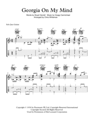 Georgia On My Mind - Jazz Guitar Chord Melody Sheet Music by Hoagy Carmichael