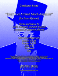 Don't Get Around Much Anymore (for Brass Quintet) Sheet Music by Duke Ellington