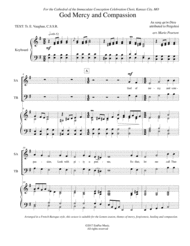 God of Mercy and Compassion Sheet Music by Attributed to Pergolesi