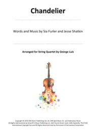 Chandelier for String Quartet Sheet Music by Sia