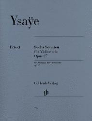 Six Violin Sonatas