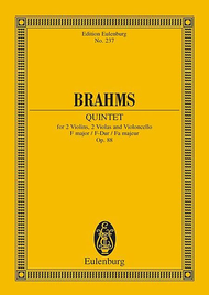 Quintet F major op. 88 Sheet Music by Johannes Brahms