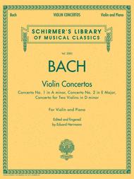 Bach - Violin Concertos Sheet Music by Johann Sebastian Bach