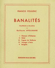 Banalites Sheet Music by Francis Poulenc