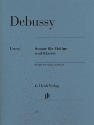 Sonata for Violin and Piano Sheet Music by Claude Debussy