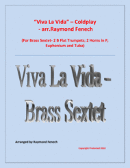 Viva La Vida - Coldplay- Brass Sextet with optional Drum Set Sheet Music by Coldplay