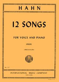 Twelve Songs - High Sheet Music by Reynaldo Hahn