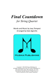 Final Countdown - for String Quartet Sheet Music by Europe