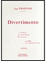 Divertimento pour cor Sheet Music by Jean Francaix