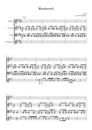 Wonderwall (string quartet) Sheet Music by Oasis