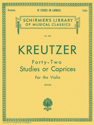 42 Studies Or Caprices - Violin Sheet Music by Rodolphe Kreutzer