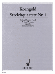 String Quartet No. 1 op. 16 Sheet Music by Erich Wolfgang Korngold