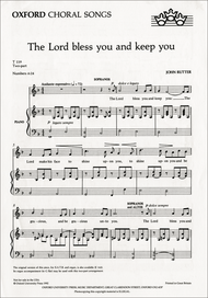 The Lord bless you and keep you Sheet Music by John Rutter