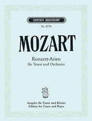 Complete Concert Arias for Tenor Sheet Music by Wolfgang Amadeus Mozart