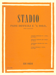 Difficult and Solo Passages Sheet Music by C Stadio