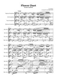Flower Duet from Lakmé (Delibes) - Saxophone quartet (SATB) Sheet Music by Leo Delibes
