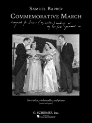 Commemorative March Sheet Music by Samuel Barber