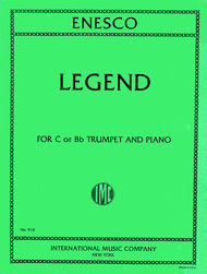 Legend Sheet Music by Georges Enescu