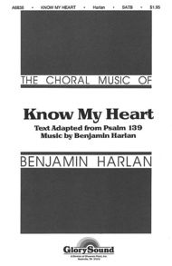 Know My Heart Sheet Music by Benjamin Harlan