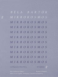 Mikrokosmos - Volume 2 (Blue) Sheet Music by Bela Bartok