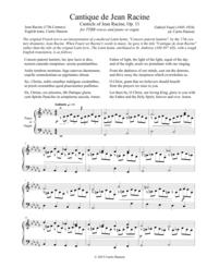 Cantique de Jean Racine (TTBB) Sheet Music by Gabriel Faure