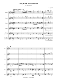Cool Calm and Collected - For Flute Choir Sheet Music by Kate Agioritis