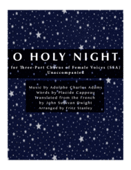 O Holy Night - SSA A Cappella Sheet Music by Adolphe Charles Adam