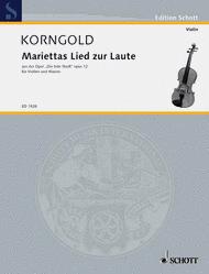 Mariettas Lied zur Laute op. 12 Sheet Music by Erich Wolfgang Korngold