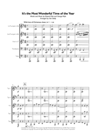 The Most Wonderful Time Of The Year for Brass Quintet Sheet Music by George Wyle & Eddie Pola