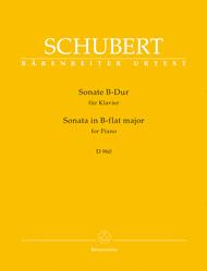 Sonate for Piano B-flat major D 960 Sheet Music by Franz Schubert